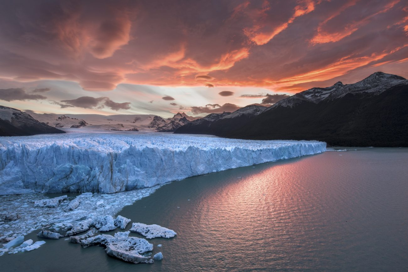 Sunset at Perito Moreno Glacier