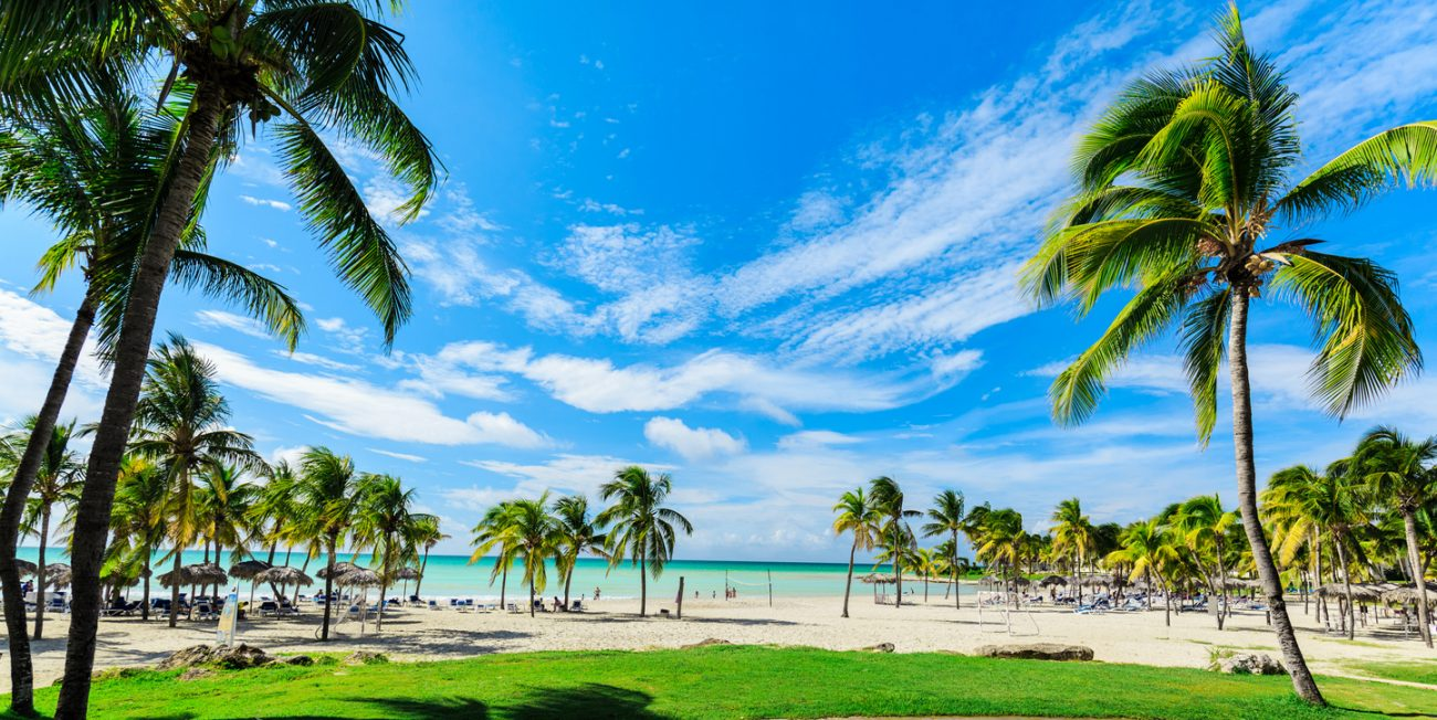 gorgeous wide open view of Varadero Cuban beach and tranquil ocean
