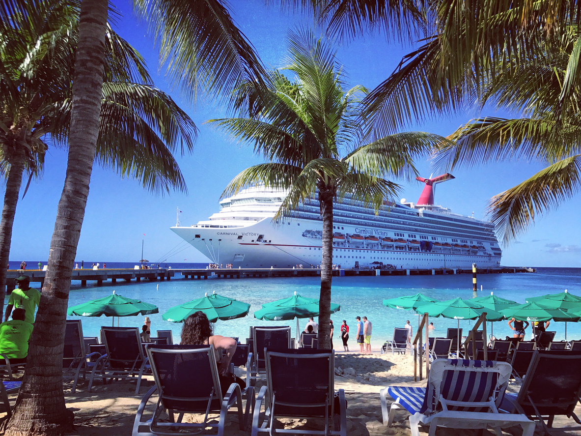 Cruise ship Carnival Victory docked  on Grand Turks Islan